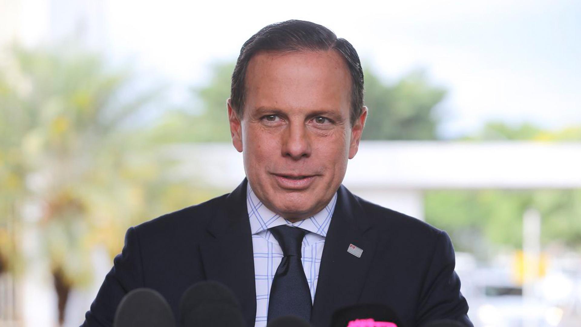El gobernador de Sao Paulo, Jorge Doria, es uno de los hombres que se encuentra enfrentado a Bolsonaro por las medidas contra el Coronavirus. Foto: Archivo DEF.