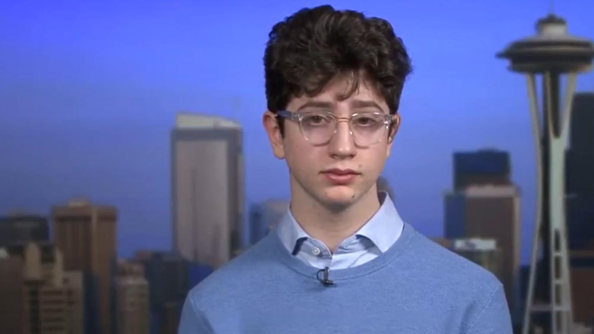 Avi Schiffmann, un adolescente de diecisiete años del estado de Washington, , ncov2019.live, que arroja datos en tiempo real y se convirtió en la fuente más consultada del mundo sobre el coronavirus. Foto: Archivo DEF.