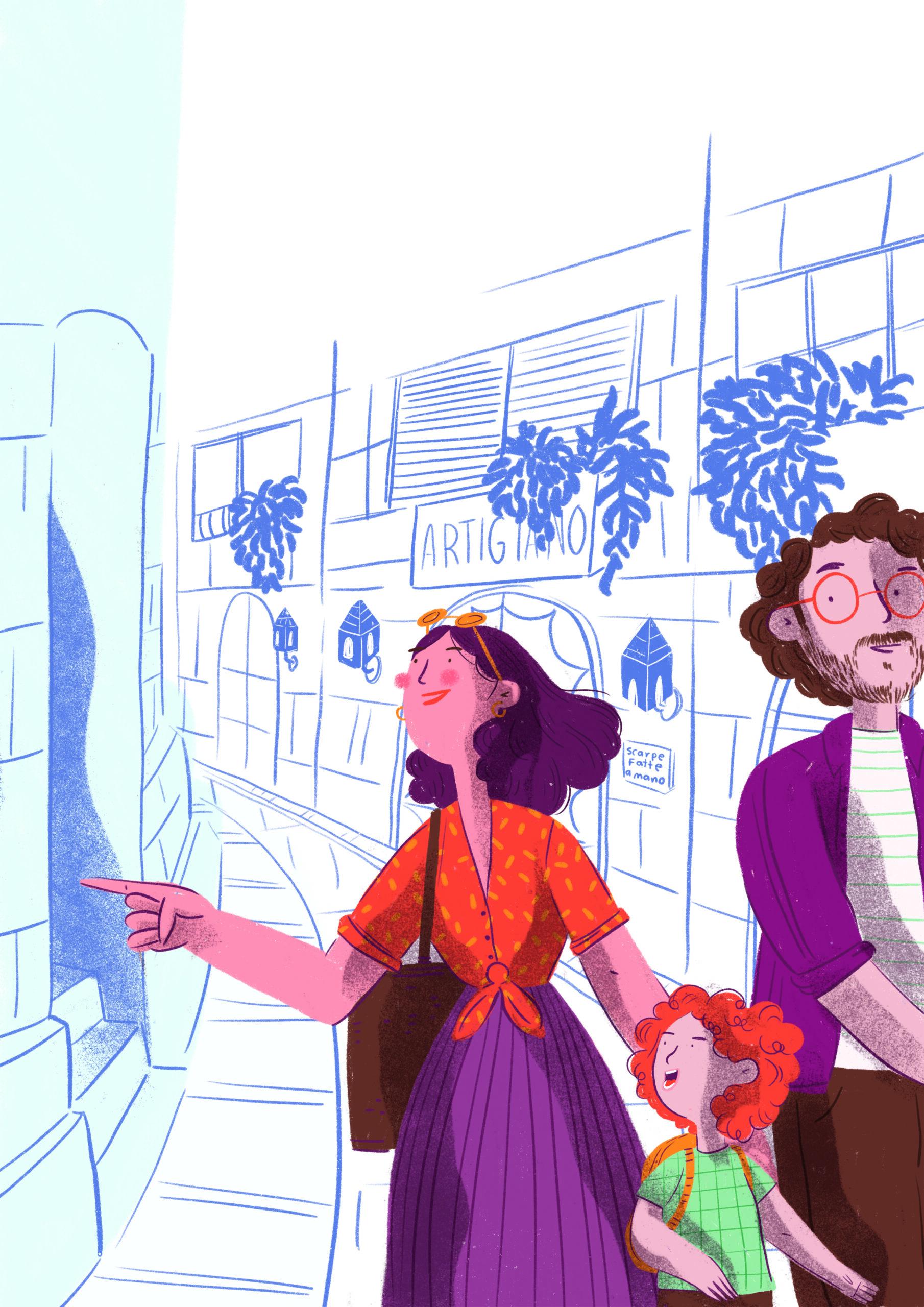 """""""En esta coyuntura mundial, no podemos evitar sentir nostalgia de esos viajes algo desopilantes que muchos de nosotros alguna vez hemos hecho"""", dice Chabod. Ilustración: Caribay Marquina."""