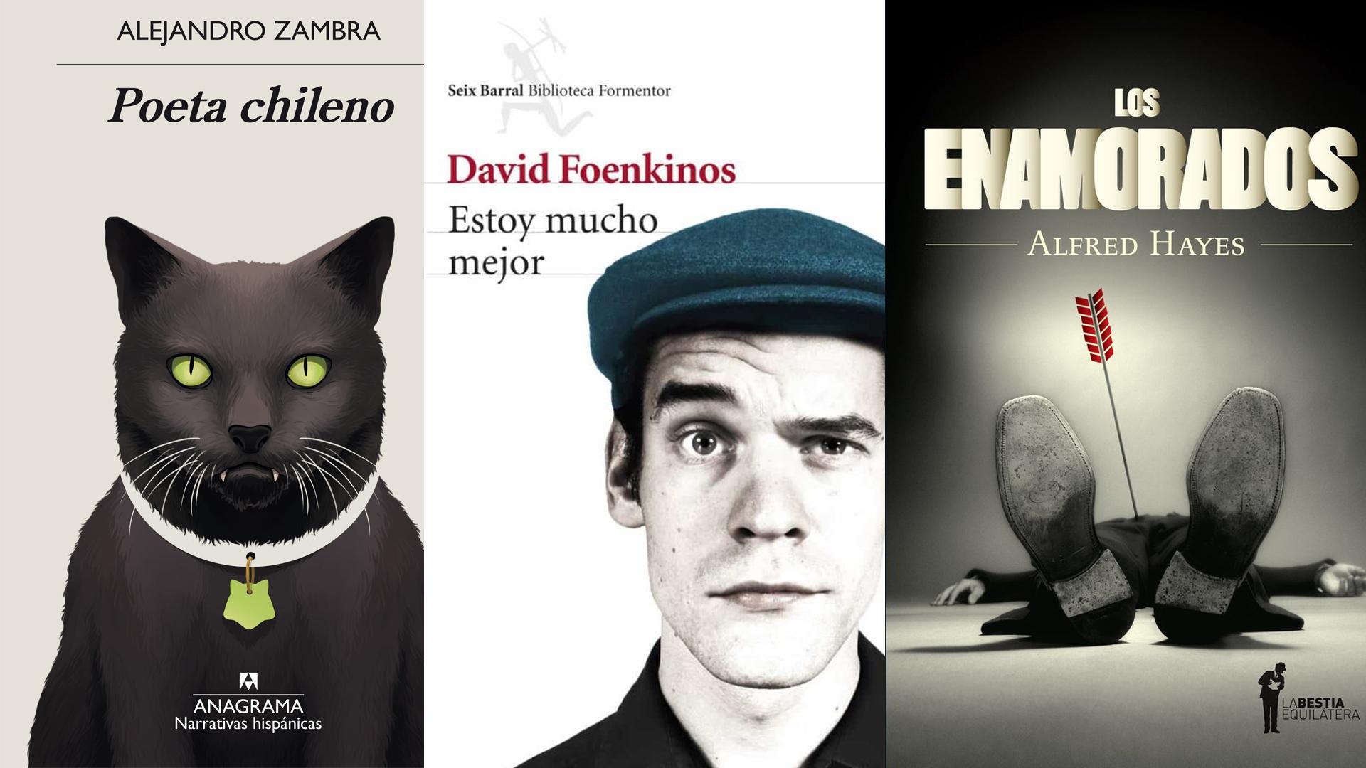 """""""Poeta chileno"""", de Zambra,""""Estoy mucho mejor"""", de Foenkinos, y """"Los enamorados"""", de Hayes, los elegidos de Luciano. Foto: Archivo DEF."""