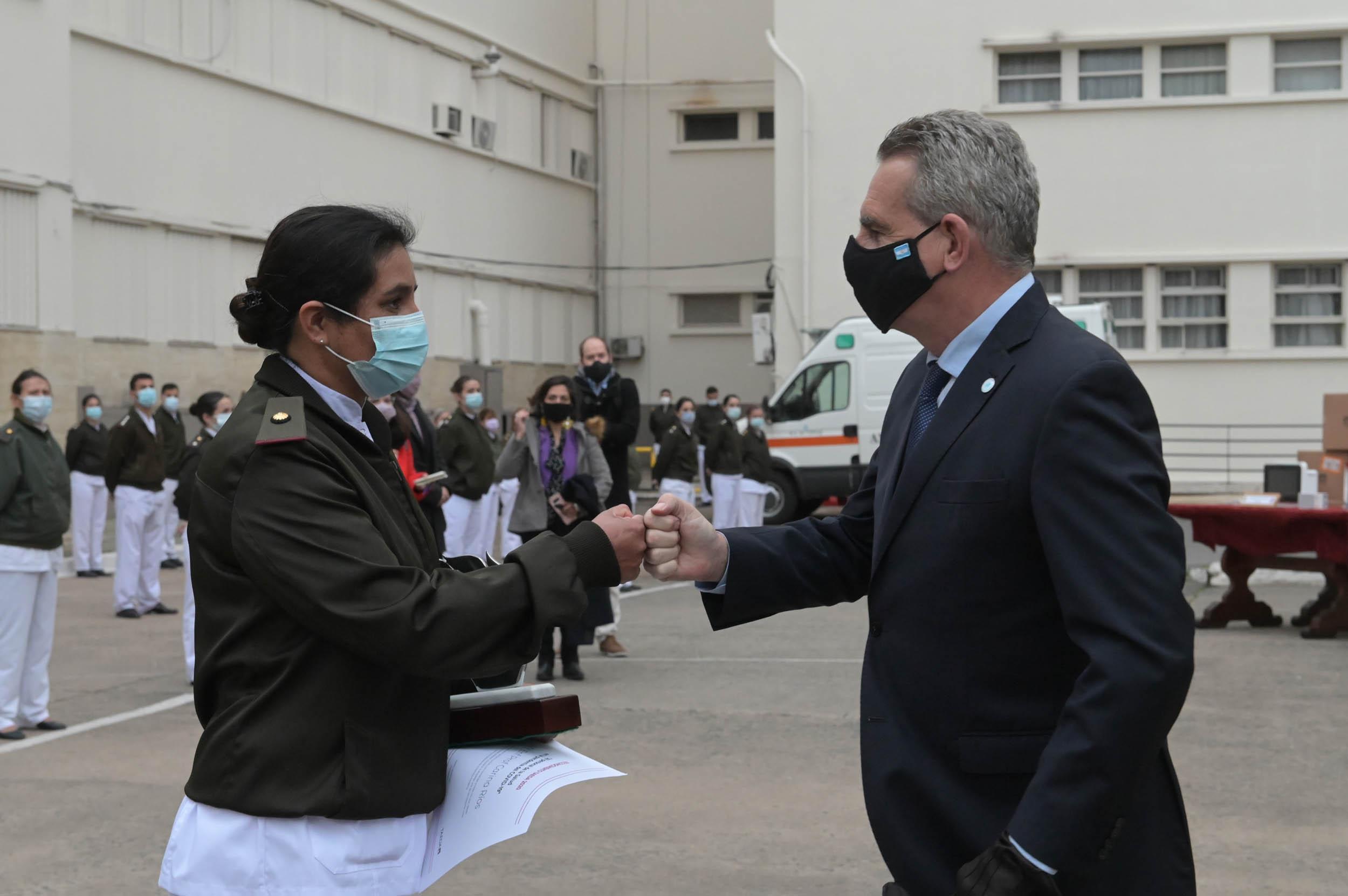 El ministro de Defensa Agustín Rossi también formó parte del reconocimiento a Ríos. Foto: Fernando Calzada.